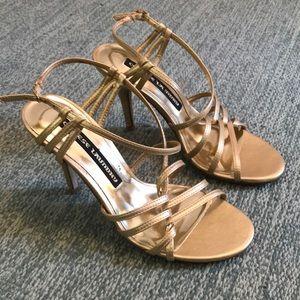 Gold dress heels